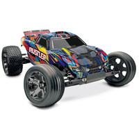 TRAXXAS RUSTLER VXL READY TO RUN BRUSHLESS STADIUM TRUCK WITH TSM - 39-37076-4