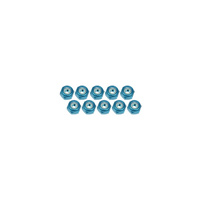 2MM ALUM LOCKNUT 10PCS LIGHT BLUE - 3RAC-N20/LB