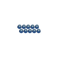 3MM Alum. Flanged Lock Nuts - 10Pcs Blue - 3Rac-Nf30/Bu