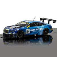 SCALEXTRIC Slot Car - Bentley Continental Gt3, Team Htp Blue - 57-C3846