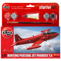 AIRFIX PLASTIC MODEL KIT SMALL STARTER SET - HUNTING PERCIVAL JET PROVOST T3 1:72 - NEW LIVERY - 58-55116