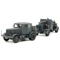 TAMIYA 1/48 German Heavy Tractor Ss-100 & 88Mm Gun Flak 37 Set - 74-T37027