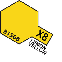 TAMIYA Mini X-8 Lemon Yellow Acrylic Gloss 10Ml - 75-T81508
