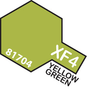 TAMIYA Mini Paint Pot XF-4 Yellow Green Acrylic Flat 10Ml - 75-T81704