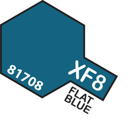 TAMIYA Mini Paint Pot XF-8 Flat Blue Acrylic Flat 10Ml Paint Pot - 75-T81708