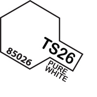 TAMIYA TS-26 Pure White Spray Paint  100Ml - 75-T85026