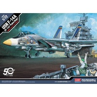 "Academy 12563 1/72 USN F-14A ""VF-143 Pukin Dogs"" Plastic Model Kit"