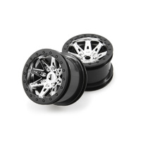 AXIAL 2.2 REBEL WHEELS 41MM WIDE CHRM/BLACK (2), AX08137