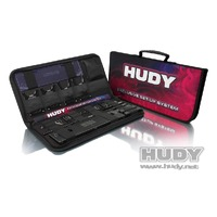 HUDY COMPLETE SET OF SET-UP TOOLS & CARRY BAG 1-8TH ONROAD - HD108056