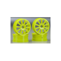 JCONCEPTS RULUX RC10B4 FRONT WHEEL YELLO - JCP3305Y