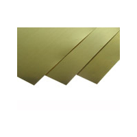 "K&S 258 Brass Sheet Assorted Sizes 4 x 10"" (6 Packs of 4)"