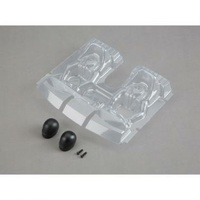 Losi Interior Set With Helmets, Clear, Baja Rey - Los230020