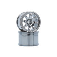 LRP 122021 8-SPOKE WHEEL BLACK -CHROME (2 PCS)