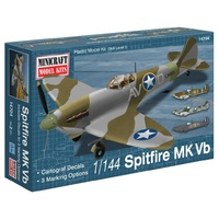 Minicraft 1/144 Spitfire Vb Usaaf/Raf With 2 Marking Options Plastic Model Kit 14704