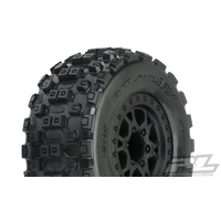 PROLINE Badlands Mx Short Coarse 2.2/3.0 M2 Medium Tires On Impulse Black Fr Wheels 2Pcs - Pr10156-31