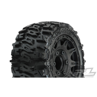 "Trencher Lp 2.8"" All Terrain Tires Mounted On Raid Black 6X30 Wheels (2) For Stampedeâ /Rustlerâ  2WD & 4WD Fr&Rr"