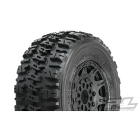 "TRENCHER X SC 2.2""/3.0"" M2 (MEDIUM) TIRES MOUNTED ON RAID BLACK 17MM WHEELS (2) - PR1190-24"