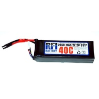 Rfi Lipo 40C 6 Cells 22.2V 2650Ma W/Deans Connector - Rfi-4110