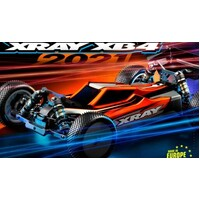 XRAY XB4 - 2021 SPECS - 4WD 1/10 ELECTRIC OFF-ROAD CAR CARPET EDITION - XY360008
