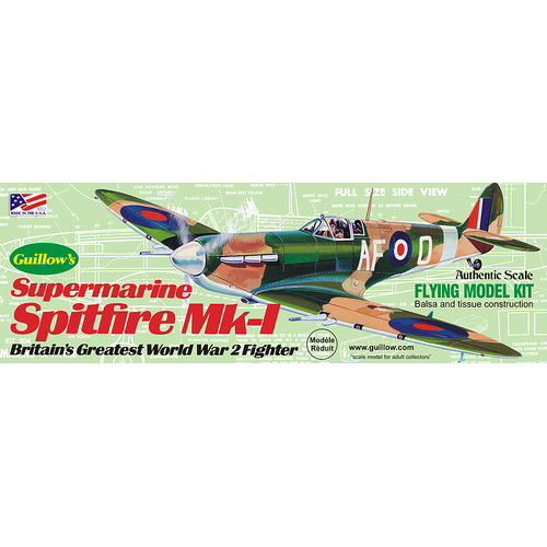 Guillow'S 504 Spitfire Balsa Plane Model Kit - Gui-504